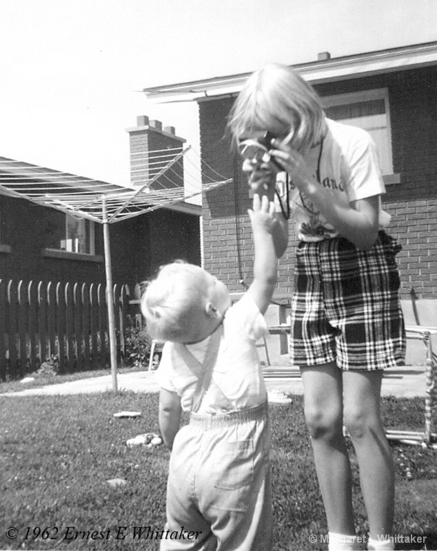 Using my first Brownie Camera
