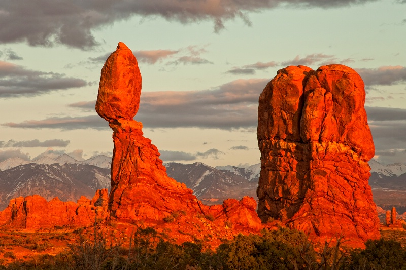 Balanced Rock in Sunset Light