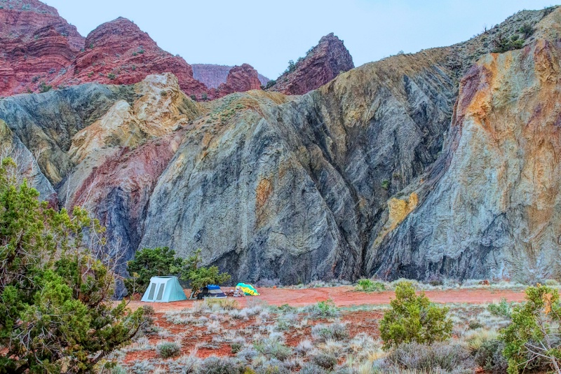 Colorful Camping Site