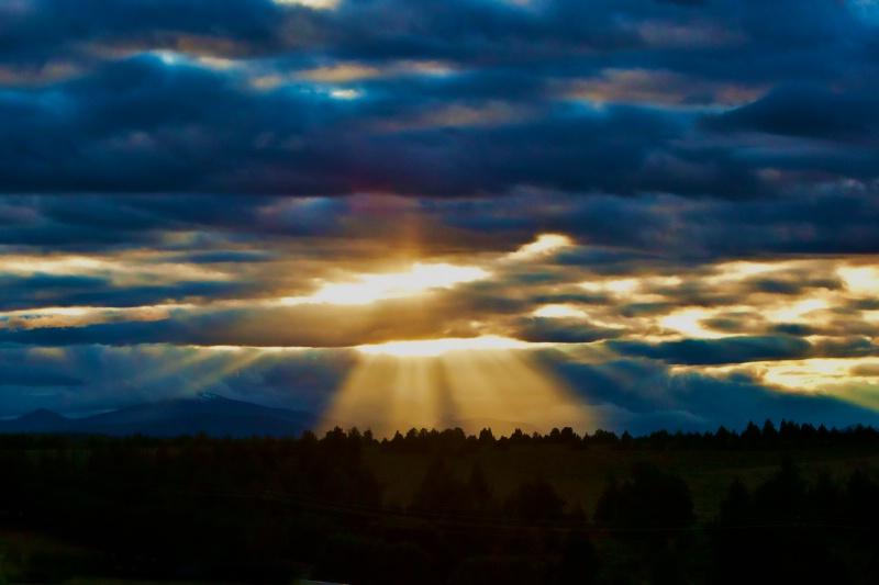 Painted sunset over 4 Peaks