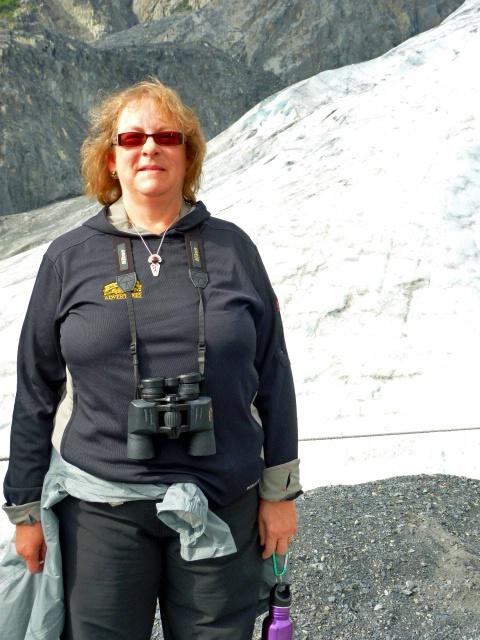 Joan at glacier