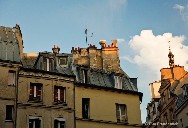 Buildings in Late Day Light, Paris