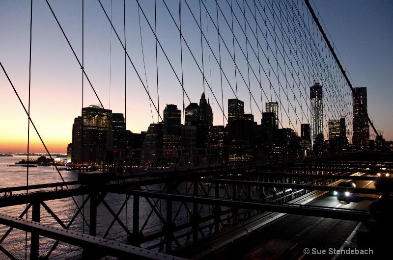 From Brooklyn Bridge at Sunset