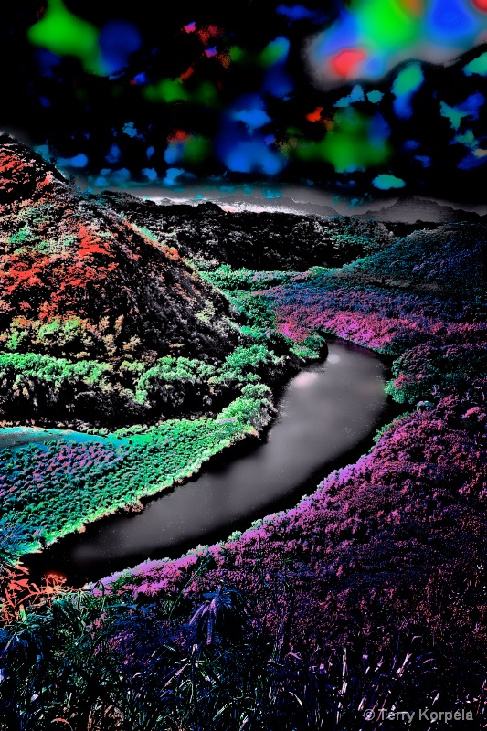 lake in Kauai   infra-red camera