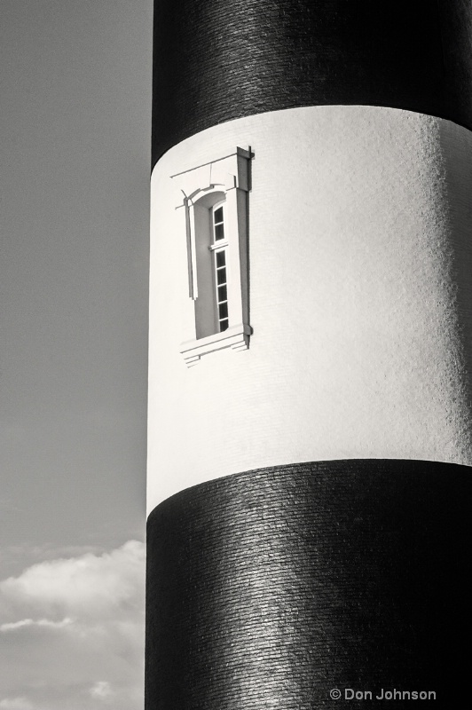 Bodie B&W Lighthouse Window