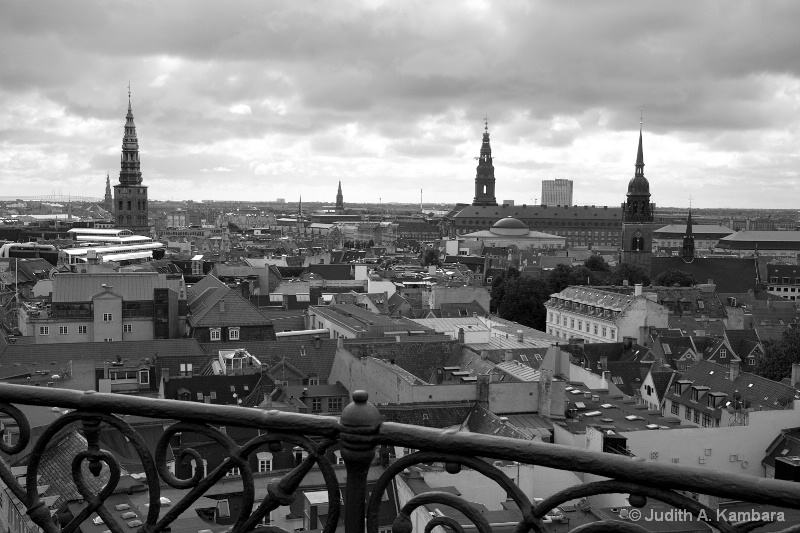 Copenhagen skyline (b&w)