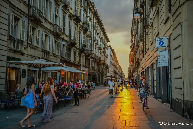 Turin Centro in the Evening