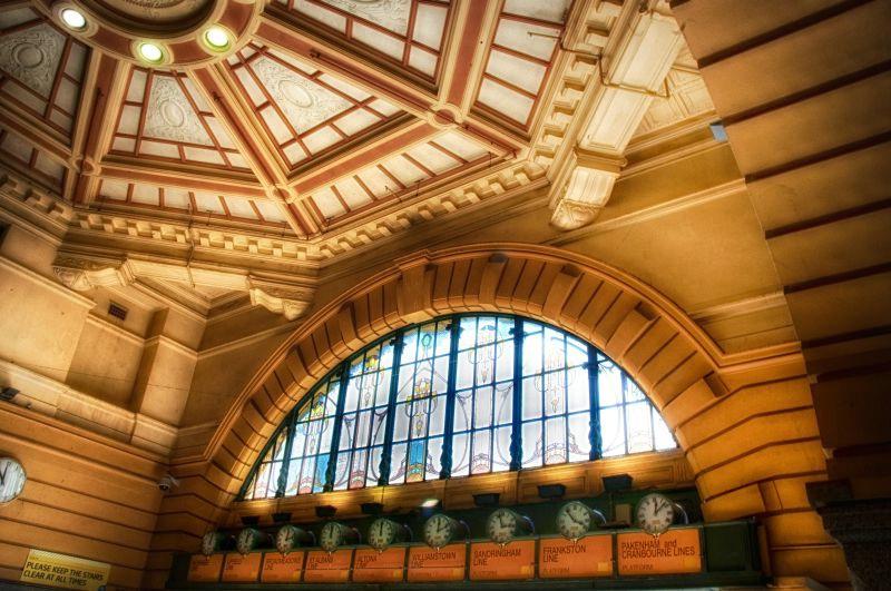 Inside Flinders Street Station