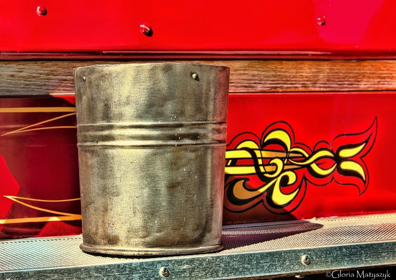 Fire bucket from a 1925 Antique fire engine