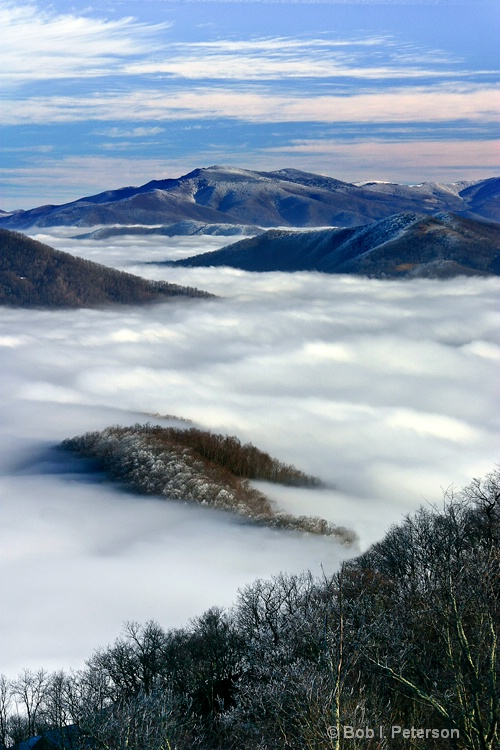 winter above the clouds