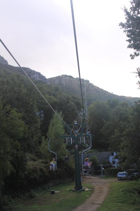 Gondola ride to the top