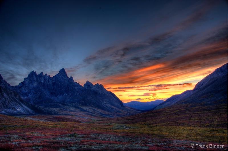 Sunset in the Yukon