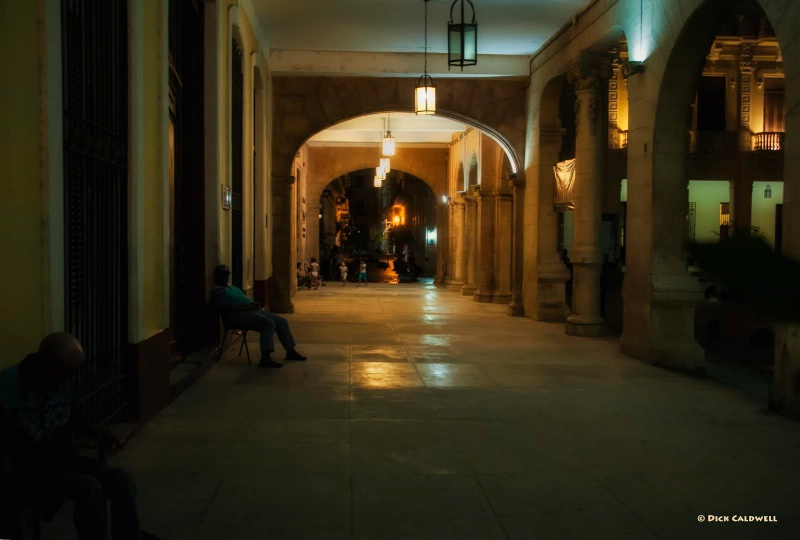 Columns in the dark, Havana, Cuba