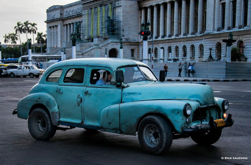 Old car in Old Havana, Cuba