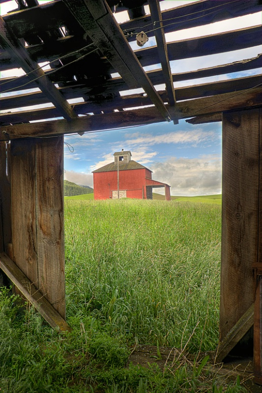 Barn View, Palouse, Washington