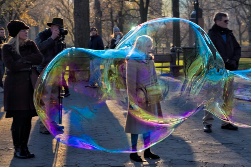 The Girl In The Bubble