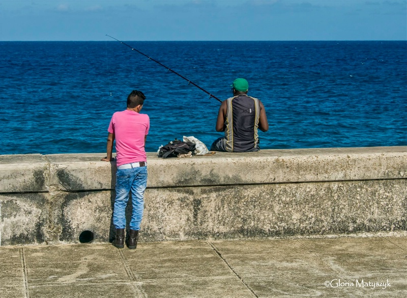 Fishing on the Malacon, Havana
