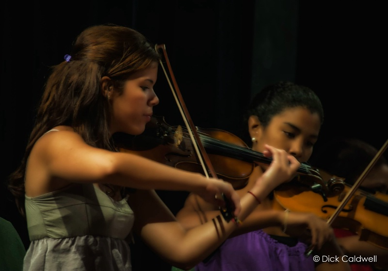 Violinists, Cuba National Symphony Orchestra