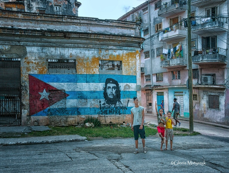 Political statement in Havana
