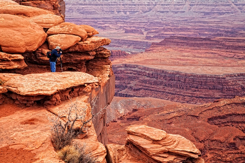 Getting the Shot at Dead Horse Point