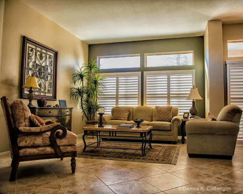 Living room in Sun City West,Arizona