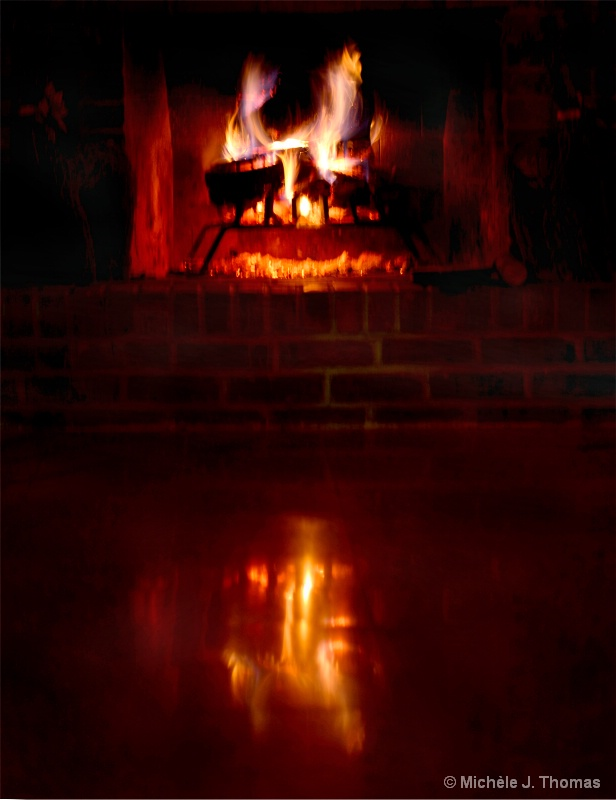 Fire Reflections Unto The Shiny Foor!
