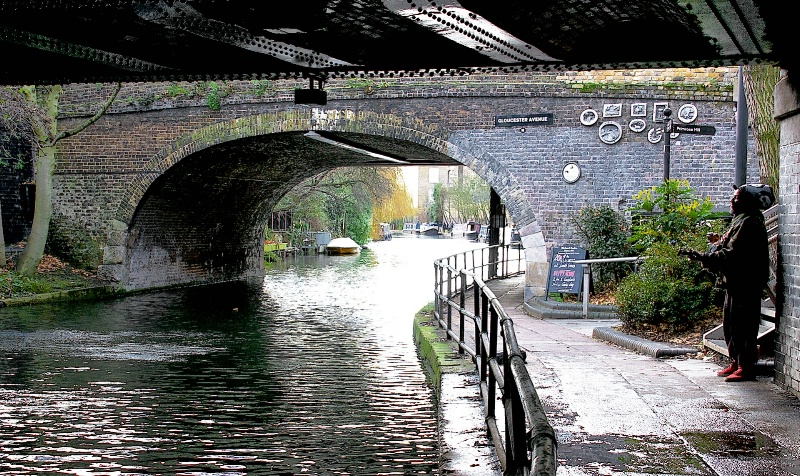 Lonely Busker at Camdens Canal