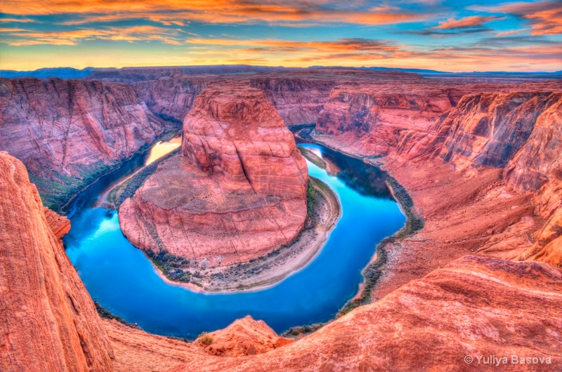 Horseshoe Bend of the Colorado River , Arizona.<p>