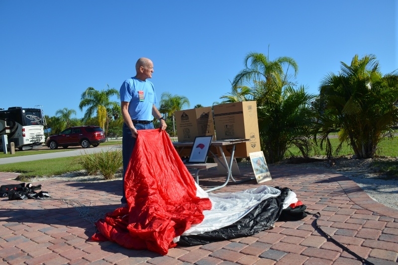 Packing the parachute