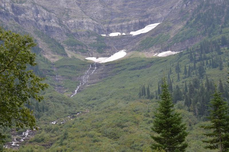 SNOW IN GLACIER MOUNTAINS