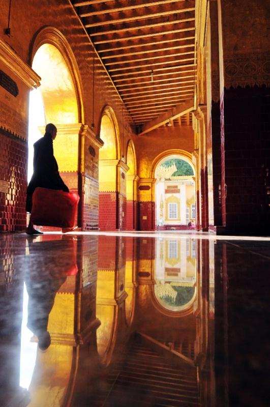 Monk in Mahamuni, Mandalay, Myanmar
