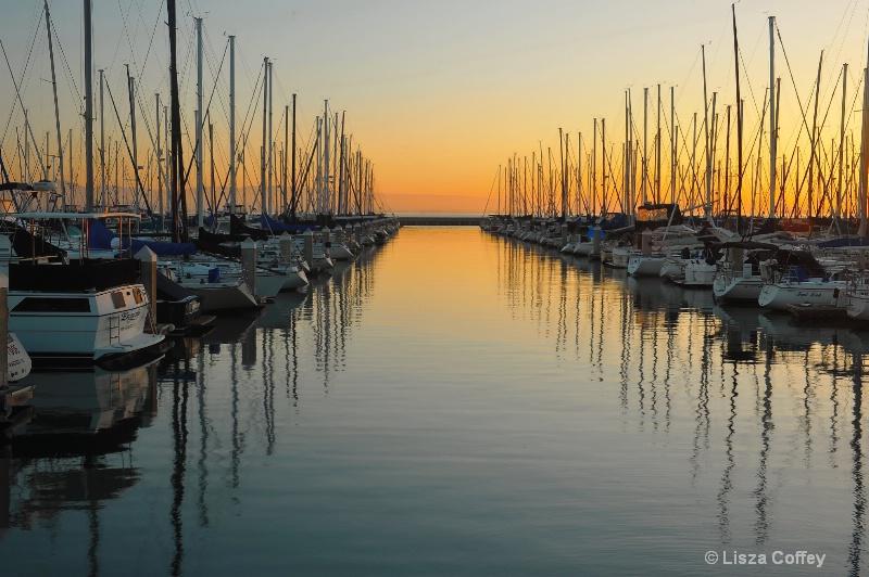 Sunrise in the marina
