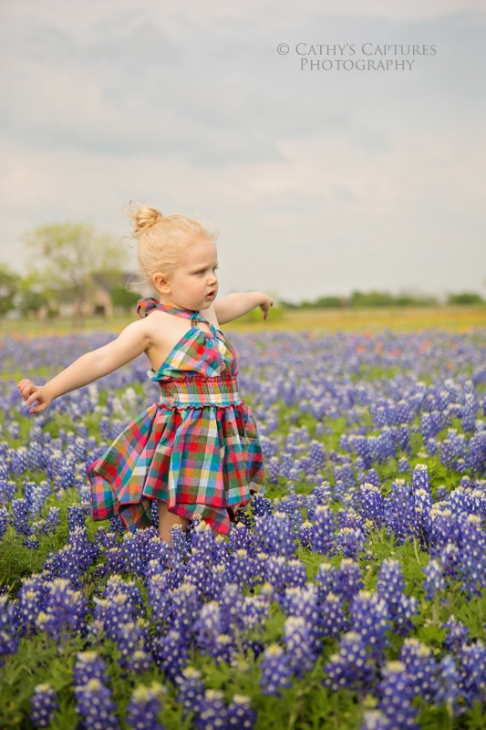 ~Carefree in Blue Bonnets~