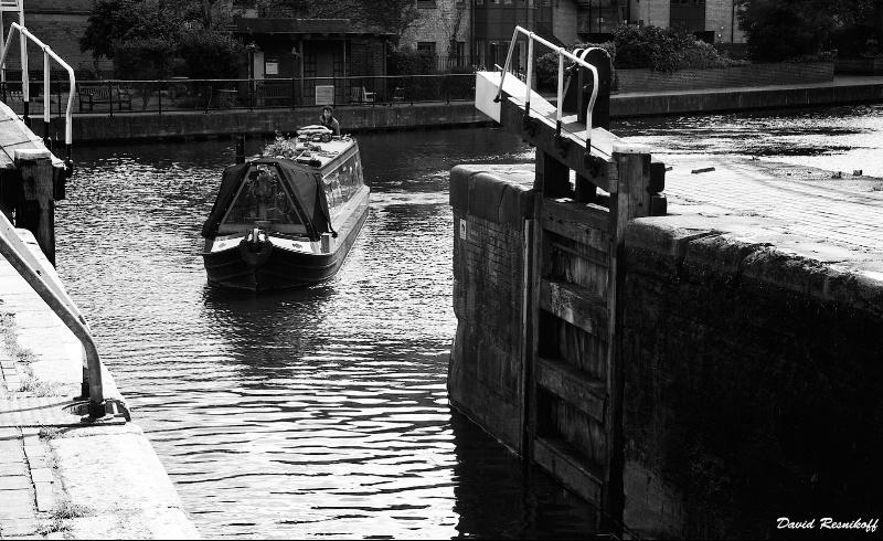 Barge at  Hackney Dock