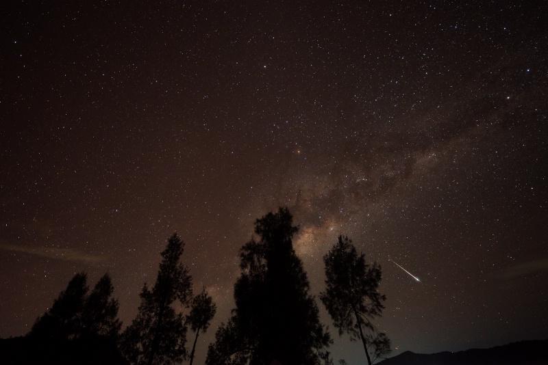 Meteor capture with Milky Way