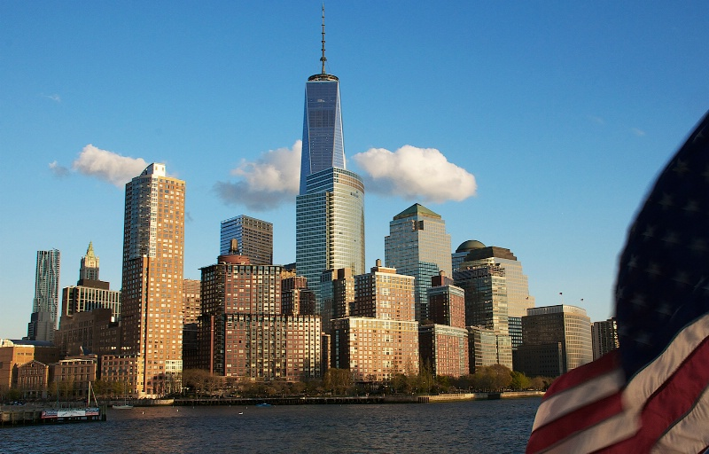 Freedom Tower and the American Flag