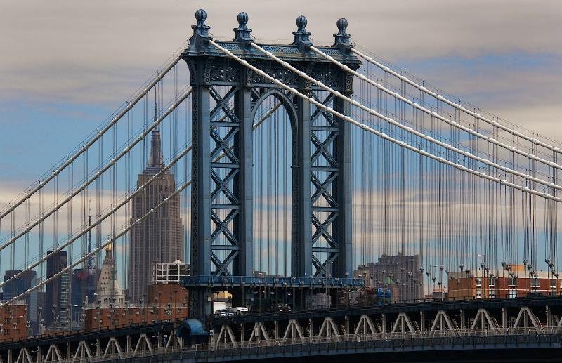 Manhattan Bridge and the Chrysler Tower