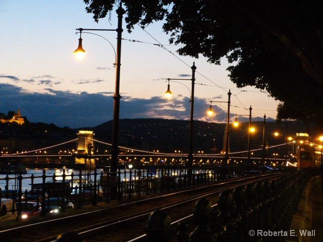 evening stroll in Budapest