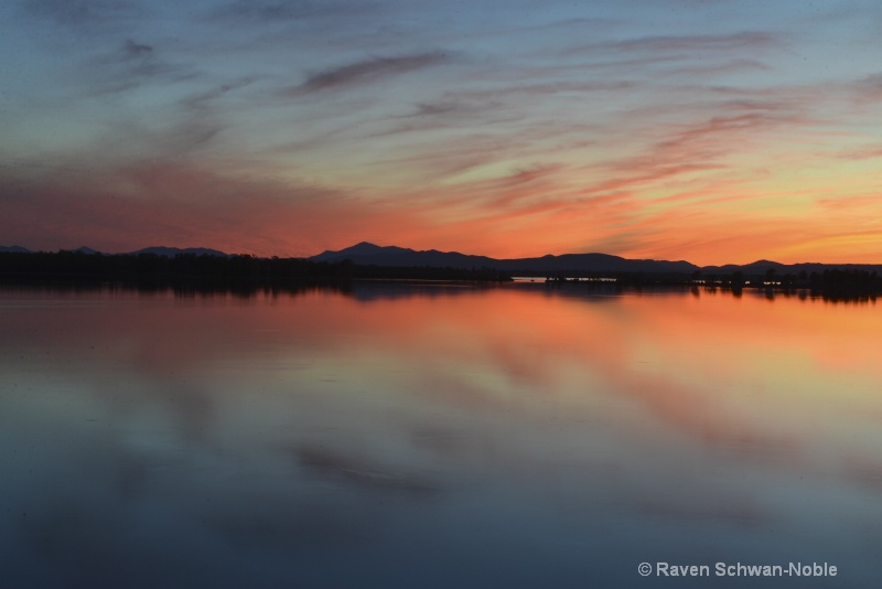 """Sunset at """"The Gut"""" North Hero Vermont"""