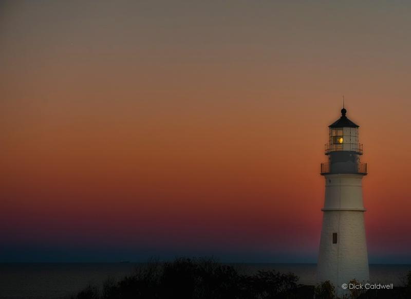 Portland Head Light, Maine at sunset