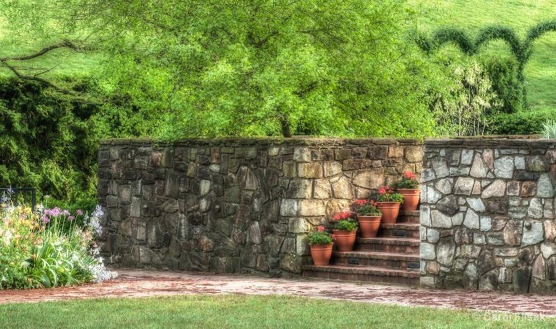 Flower Pots on Stairs ~ Longwood Gardens