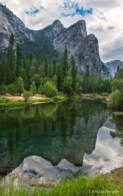 Three Brothers, Yosemite, In Reflection