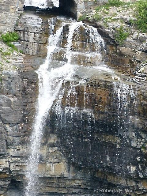 waterfall near Goin to the Sun Road