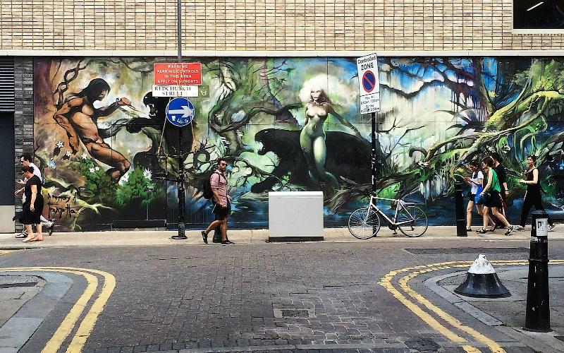Graffiti Collective in Shoreditch