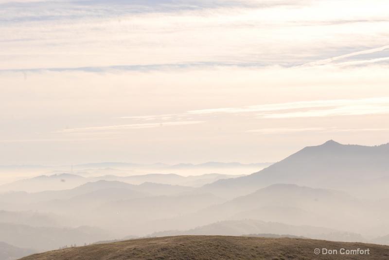Layers of Fog From Novato, CA Ridge...2014