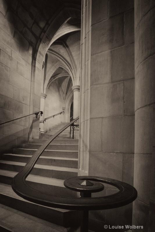 cathedralstairwellbw
