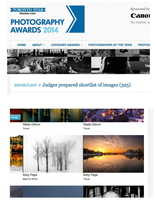 2014 Toronto Star Photography Awards
