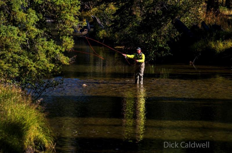 Fly fishing at Yellowstone NP