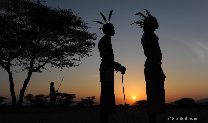 Maasai silhouettes