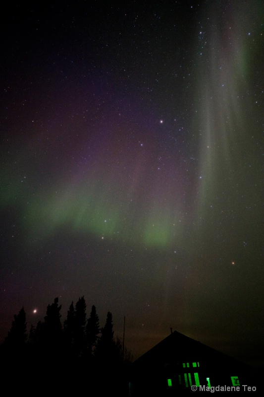 Aurora borealis at Arc